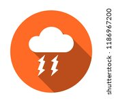 storm cloud vector icon | Shutterstock .eps vector #1186967200