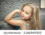 small baby girl or cute child... | Shutterstock . vector #1186969303