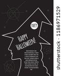 halloween party invitation ... | Shutterstock .eps vector #1186971529