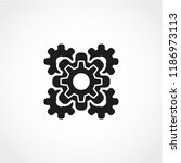 gear icon isolated on white... | Shutterstock .eps vector #1186973113