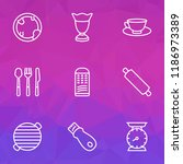 culinary icons line style set... | Shutterstock .eps vector #1186973389