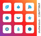 fruit icons colored set with... | Shutterstock .eps vector #1186973869