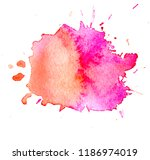 colorful abstract watercolor... | Shutterstock .eps vector #1186974019