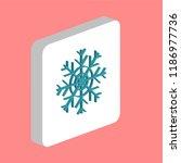 snowflake simple vector icon....   Shutterstock .eps vector #1186977736