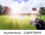 golf clubs drivers over... | Shutterstock . vector #1186978699