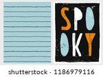abstract hand drawn halloween... | Shutterstock .eps vector #1186979116