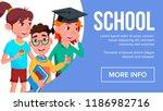 school eduacation banner....   Shutterstock . vector #1186982716