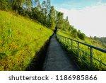 outdoor jogging track | Shutterstock . vector #1186985866
