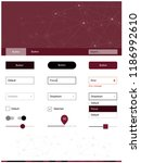 dark pink  red vector ui kit in ...