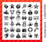 christmas icon set | Shutterstock .eps vector #118699390