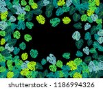 turquoise tropical jungle... | Shutterstock .eps vector #1186994326