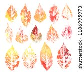 watercolor collection of... | Shutterstock . vector #1186995973
