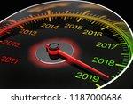 conceptual 2019 new year... | Shutterstock . vector #1187000686