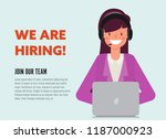 we are hiring concept banner.... | Shutterstock .eps vector #1187000923