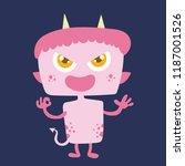 cute monster cartoon character... | Shutterstock .eps vector #1187001526