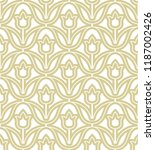 vector gold pattern with... | Shutterstock .eps vector #1187002426