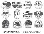 set of paddle tennis badge ... | Shutterstock .eps vector #1187008480
