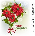 christmas background with... | Shutterstock .eps vector #118701220