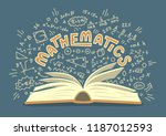 Mathematics. Open Book With...