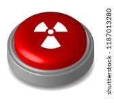 red button radioactive symbol  | Shutterstock .eps vector #1187013280