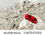 toy model of car rides on an... | Shutterstock . vector #1187015353