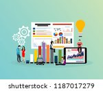 business people graph diagram... | Shutterstock .eps vector #1187017279