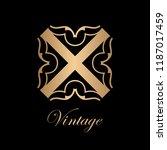 flourishes calligraphic art... | Shutterstock .eps vector #1187017459