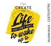 inspirational quote  motivation.... | Shutterstock .eps vector #1187019790
