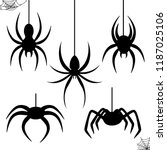 halloween celebration  stencil... | Shutterstock .eps vector #1187025106