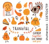vector set for thanksgiving day.... | Shutterstock .eps vector #1187026759