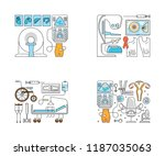 main page layout for medical... | Shutterstock .eps vector #1187035063
