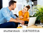 people during business meeting. ... | Shutterstock . vector #1187035516