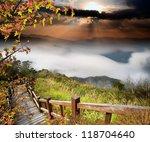 alishan  gap the top sunset... | Shutterstock . vector #118704640