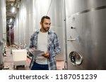 handsome man winemaker in a...   Shutterstock . vector #1187051239