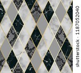 vector marble and snakeskin... | Shutterstock .eps vector #1187052040