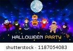 halloween ghosts character. the ... | Shutterstock .eps vector #1187054083