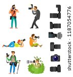 professional photographing gear ... | Shutterstock .eps vector #1187054776