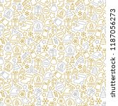 christmas seamless pattern | Shutterstock .eps vector #1187056273