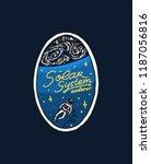 vintage space logo. exploration ...   Shutterstock .eps vector #1187056816