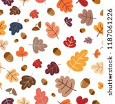 autumn seamless pattern with...   Shutterstock .eps vector #1187061226