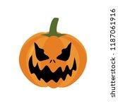 halloween pumpkin illustration... | Shutterstock .eps vector #1187061916