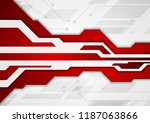 red and grey abstract... | Shutterstock .eps vector #1187063866