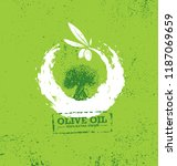 organic raw olive oil vector... | Shutterstock .eps vector #1187069659