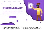 virtual reality web banner... | Shutterstock .eps vector #1187070250