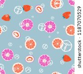 fruity seamless pattern with... | Shutterstock .eps vector #1187070529