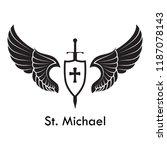 Archangel Michael Tattoo Logo...