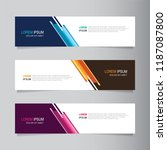 vector abstract banner design... | Shutterstock .eps vector #1187087800