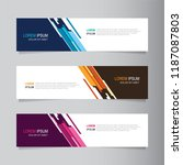 vector abstract banner design... | Shutterstock .eps vector #1187087803