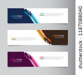 vector abstract banner design...   Shutterstock .eps vector #1187088040