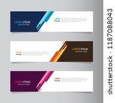 vector abstract banner design... | Shutterstock .eps vector #1187088043